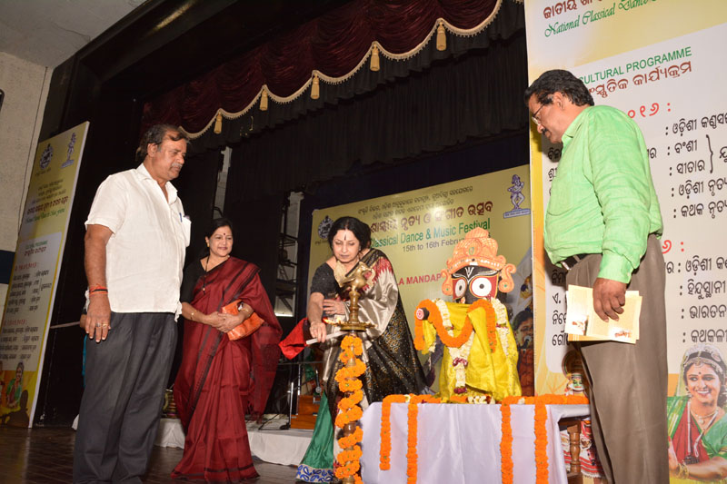 Mrs. Nalini , Founder Director with Sh. Ashok Chandra  Panda, Minister of Culture, Odisha